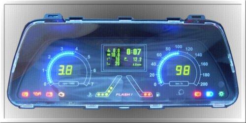 """Электронная комбинация приборов  """"FLASH """" для автомобилей Ваз 2110-11-12, Ваз 2113-14-15, Chevrolet Niva, со встроенным..."""